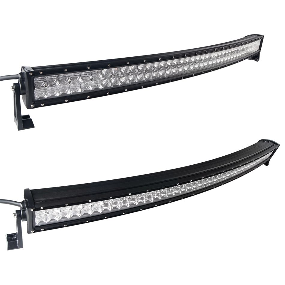 weketory 4D 5D 42 inch 400W Curved LED Work Light Bar for Tractor Boat OffRoad 4WD 4x4 Truck SUV ATV Combo with Switch Wiring
