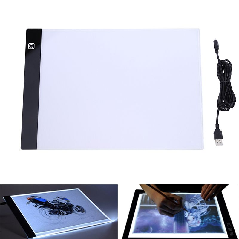 LED Graphic Tablet Writing Painting <font><b>Light</b></font> Box Tracing Board Copy Pads Digital Drawing Tablet Artcraft A4 Copy Table LED Board