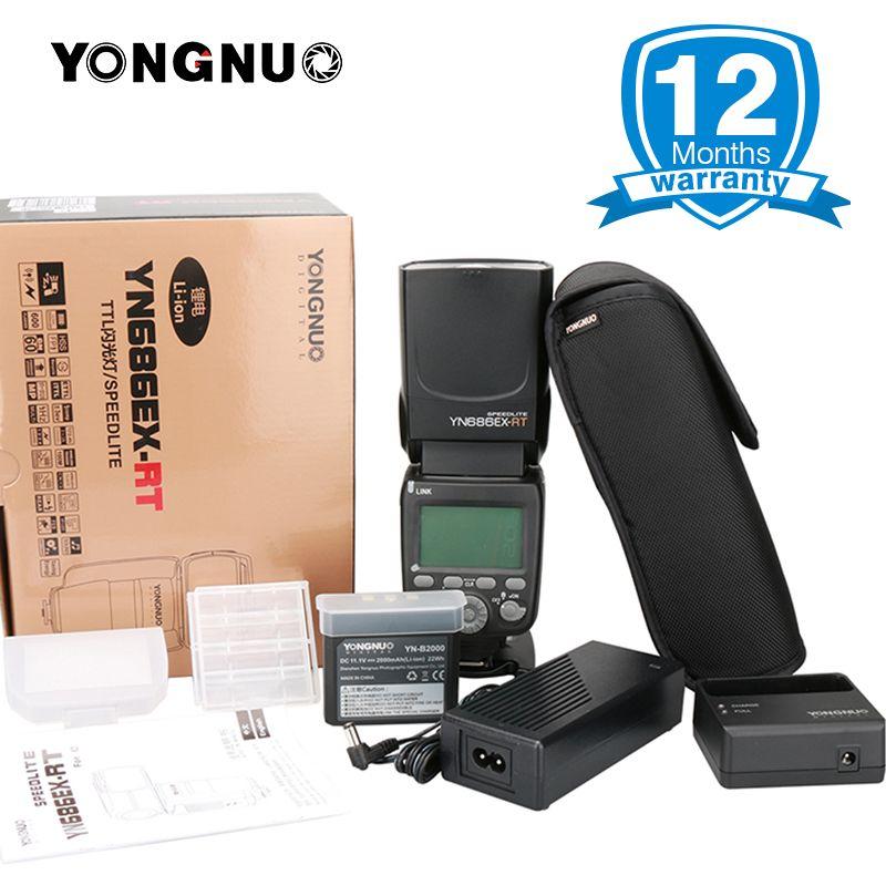 Yongnuo YN686EX-RT 2000mAh Li-ion Battery Speedlite GN60 2.4G Wireless HSS 1/8000s TTL/M/MULTI Flash Light YN686 for Canon DSLR