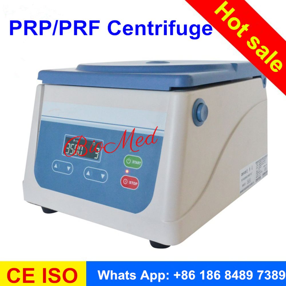2017 PRP centrifuge with angle rotor 8 tube 15ml fit for different prp tube and PRP kit
