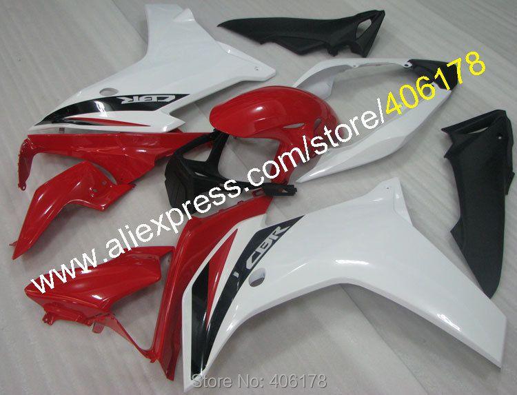 Hot Sales,White Red bodywork fairing For Honda 2011-2013 CBR600F CBR 600 F CBR 600F Moto Fairing kit (Injection molding)