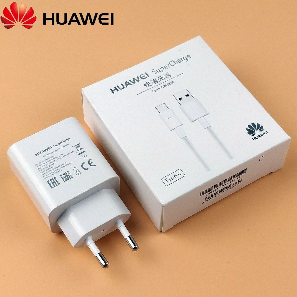 Original Huawei P20 Charger P10 Mate 10 Pro Mate 9 P20 Pro Quick Fast 5V/<font><b>4.5A</b></font> SuperCharge Power Adapter + Usb Type C cable