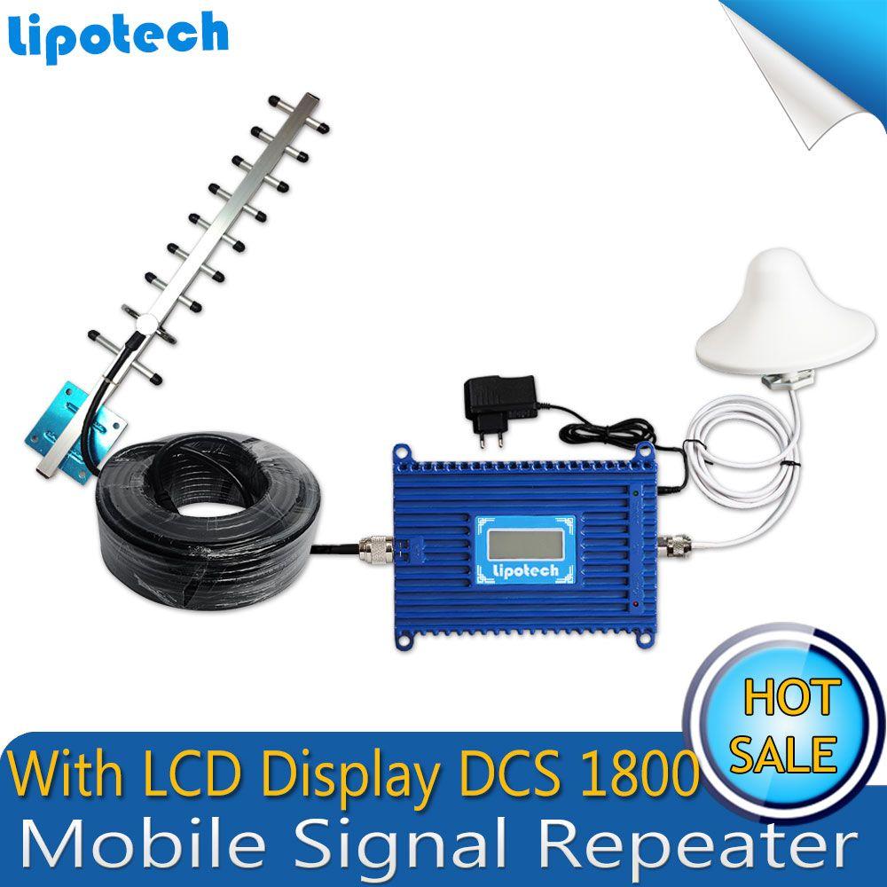 4G FDD LTE GSM 1800 Mhz Handy 70dB Gain Signal Booster GSM Signalverstärker Handy Verstärker + Yagi-antenne mit Kabel