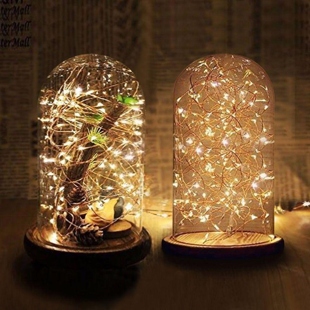 Dôme en verre transparent avec Base en bois décoration de mariage Vases à fleurs dôme en verre cadeaux de fête des mères cadeau de saint valentin