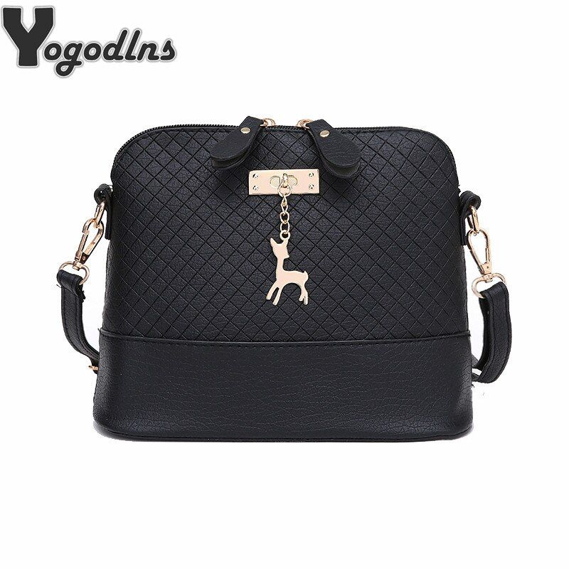 HOT SALE!2017 Women Messenger Bags Fashion Mini Bag With Deer Toy Shell Shape Bag Women Shoulder Bags handbag