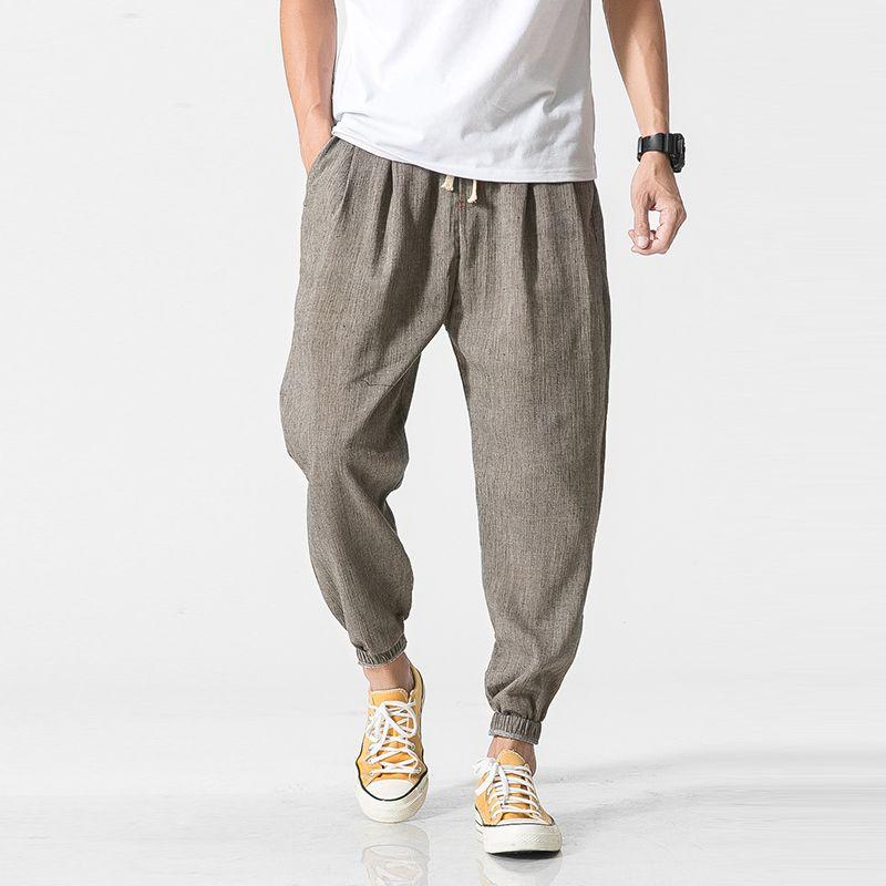 Privathinker Marque décontracté Sarouel Hommes survêtement Pantalon Hommes Pantalon de Fitness Mâle Traditionnelle Chinoise Harajuku 2019 D'été Vêtements