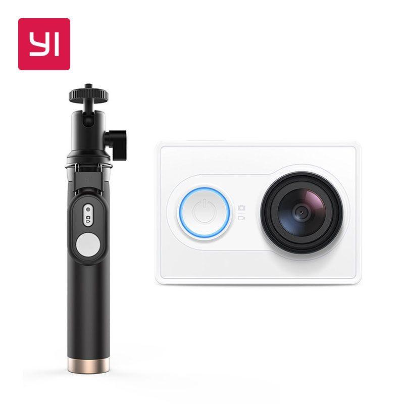 Caméra d'action yi 1080 P Blanc Selfie Bâton Faisceau 16MP Full HD 155 degrés Ultra-Grand Angle mini caméra de sport