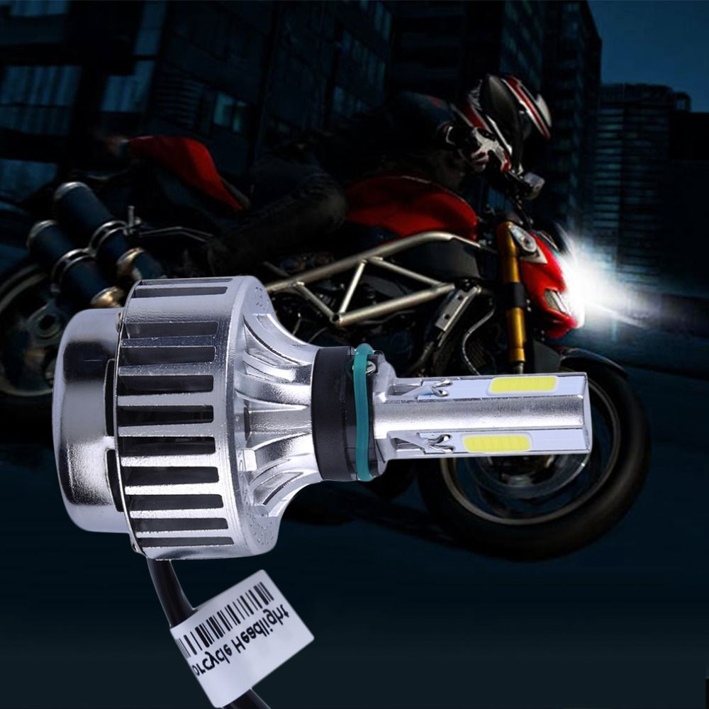 Motorcycle Bike 32W 12V 6000K 4000LM Slim LED Hi/Lo Bi xenon H4 High/Low High Low Conversion Beam Headlight Kit M3S Styling HOT