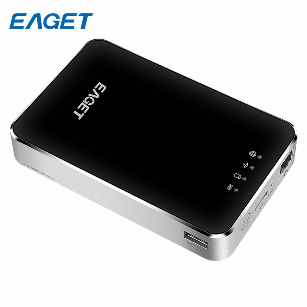Heißer Eaget Drahtlose WIFI Externe Festplatte USB 3.0 1 TB Hohe Speed Externe HDD Mit 3G Router 3000mA Batterie Bewegliche Energienbank