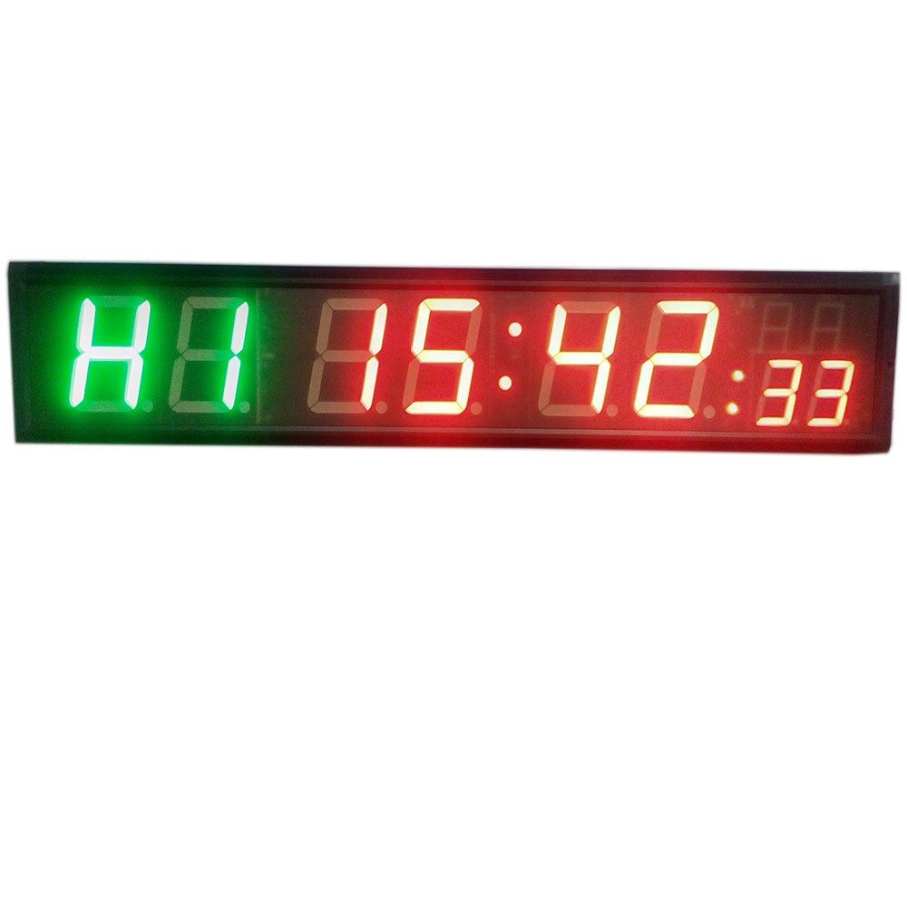 Freight free 4'' 8Digits LED Countdown Clock Workout Timer For Garage Home Gym Crossfit Training EMOM Tabata Fitness Timer