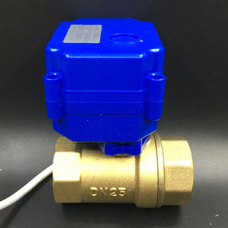 3 Wires Hot Verkäufe 12VDC CR02 Verdrahtung 2-wege Messing 1 ''DN25 Elektrische Motorisierte Ventil BSP Gewinde Für Wasser Control