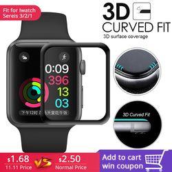Templered Kaca untuk Apple Watch Series 3 2 1 Semua Versi Melindungi 100% Layar