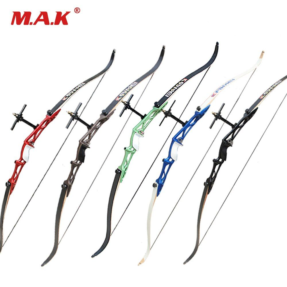 12 Color 66/68/70 Inches Recurve Bow 14-40LBS with Sight and Rest for Right Hand Outdoor Archery Hunting Shooting Games