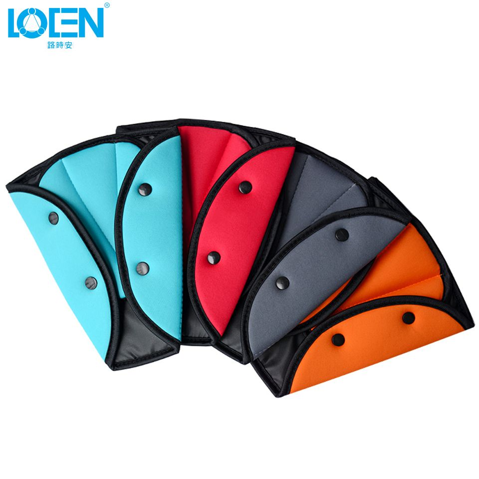 LOEN 1PC Cloth/MeshChildren Baby Kids travel Safety Seat Belt Adjuster Protector Accessories Triangle Protect belly Universal