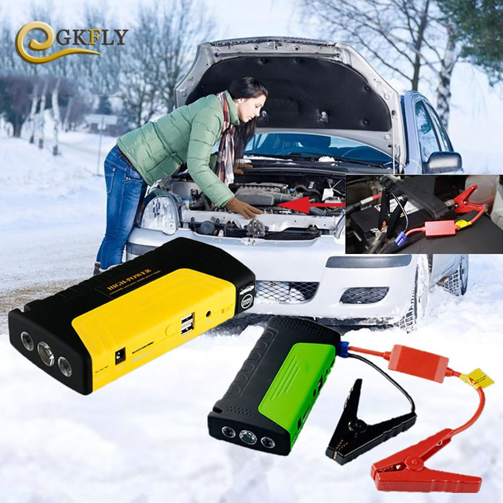 Car Jump Starter Auto Starting Device Portable Power Bank 12V Car Charger for Car Battery Booster Buster Diesel Auto LED Lighter