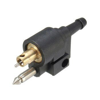 Black Outboard Gasoline Outboard Engine Fuel Line Connector Fits 1/4