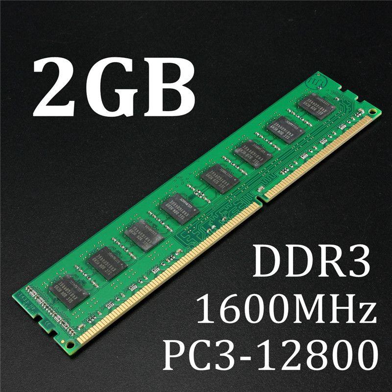 Marke Neue 2 GB Speicher RAM DDR3 PC3-12800 1600 MHz Desktop PC DIMM Speicher RAM 240 pins Für AMD System Hight Qualität