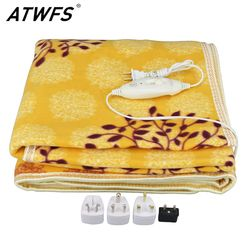 ATWFS безопасность электрическое плюшевое одеяло двуспальная кровать Электрический термостат подогреватель одеяла ковер-обогреватель 150*120 ...