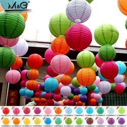 10-50 cm Cina Kertas Lentera Festival Perlengkapan Dekorasi Pesta Ulang Tahun Pernikahan hadiah dekorasi kerajinan DIY Lampion Lentera