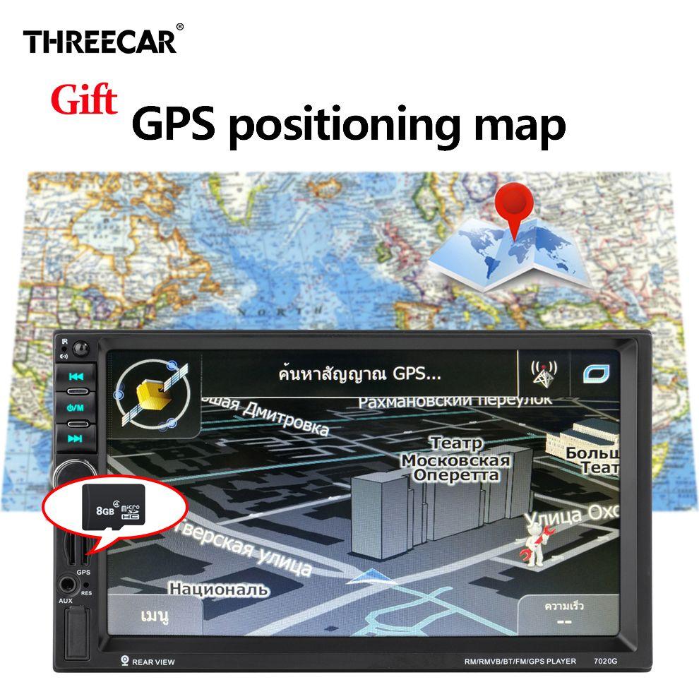 GPS Navigation 7020g Autoradio 2 Din Multimedia Auto Radio Stereo Spiegel Link Mp5 Player FM USB Bluetooth Auto Video auto Radio