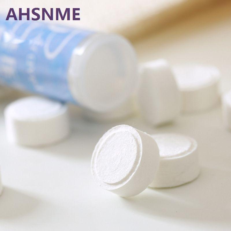 AHSNME 100 pièces serviette compressée 22*24 cm voyage extérieur serviette jetable masque serviette