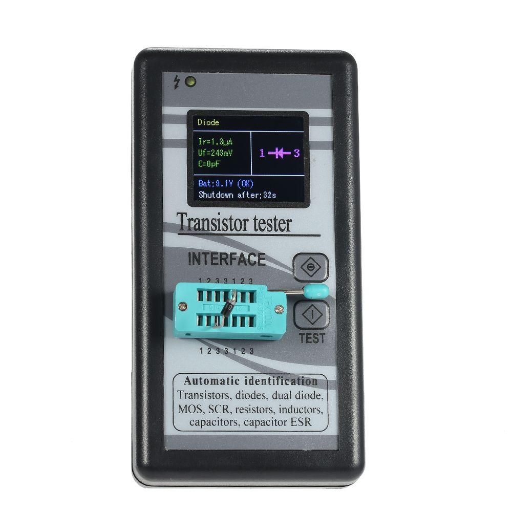Multi-functional Transistor Tester 128*160TFT Color Display Diode Thyristor Capacitance Resistor Inductance MOSFET ESR LCR Meter