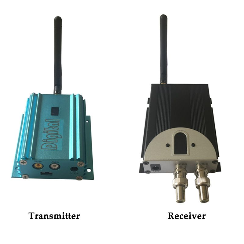 UHF 2000mW Long Distance Wireless Video Audio Transmitter Analogue 12 Channels Security Sender 2.4Ghz Analog Transmitter