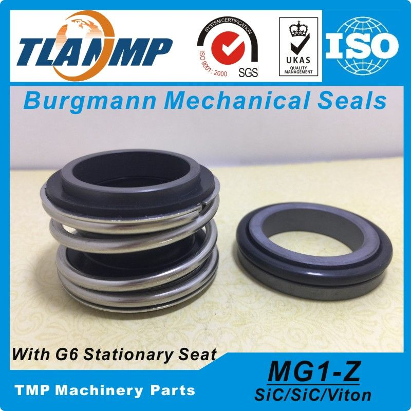 MG1/55-Z (MG1-55/G6) Repalce Burgmann Mechanical Seals Rubber Bellow with G6 stationary Seat (Material:SIC/SIC/VITON)