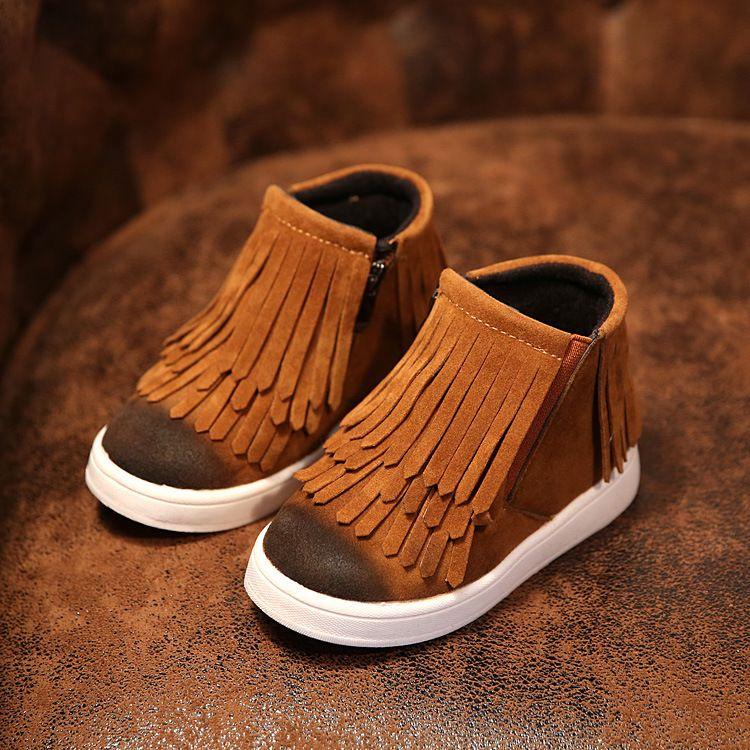Nuevo 2017 niños del invierno Zapatos pu Botas de nieve niños caliente Niños caliente Botas chica plataforma Zapatos tamaño 21-36