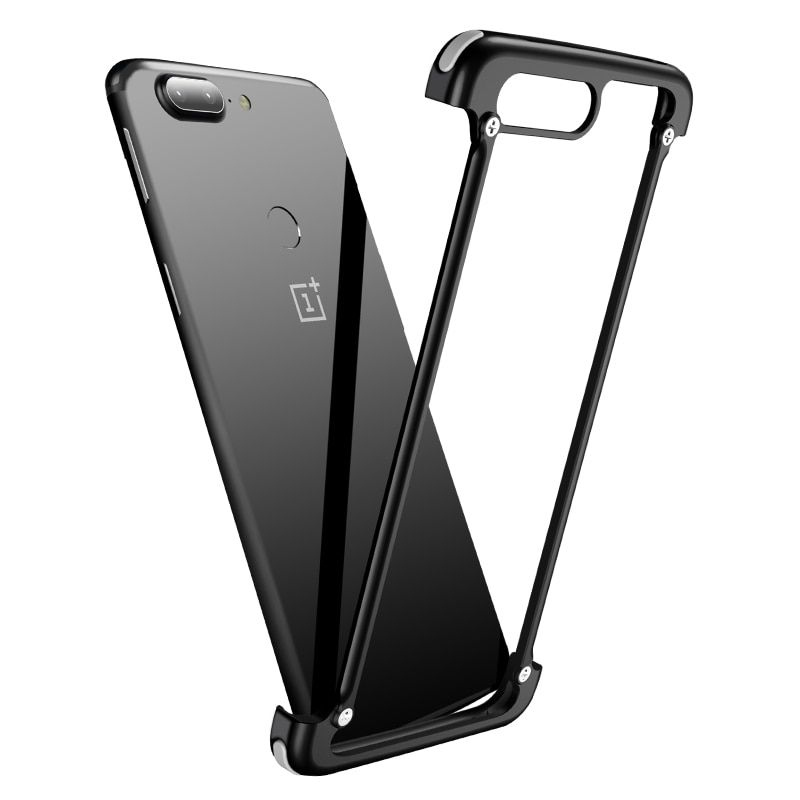 OATSBASF Original Airbag Metal Case for Oneplus 5t Case Personality 5 T Airbag Shell Metal Bumper Cover for Oneplus 6 Case