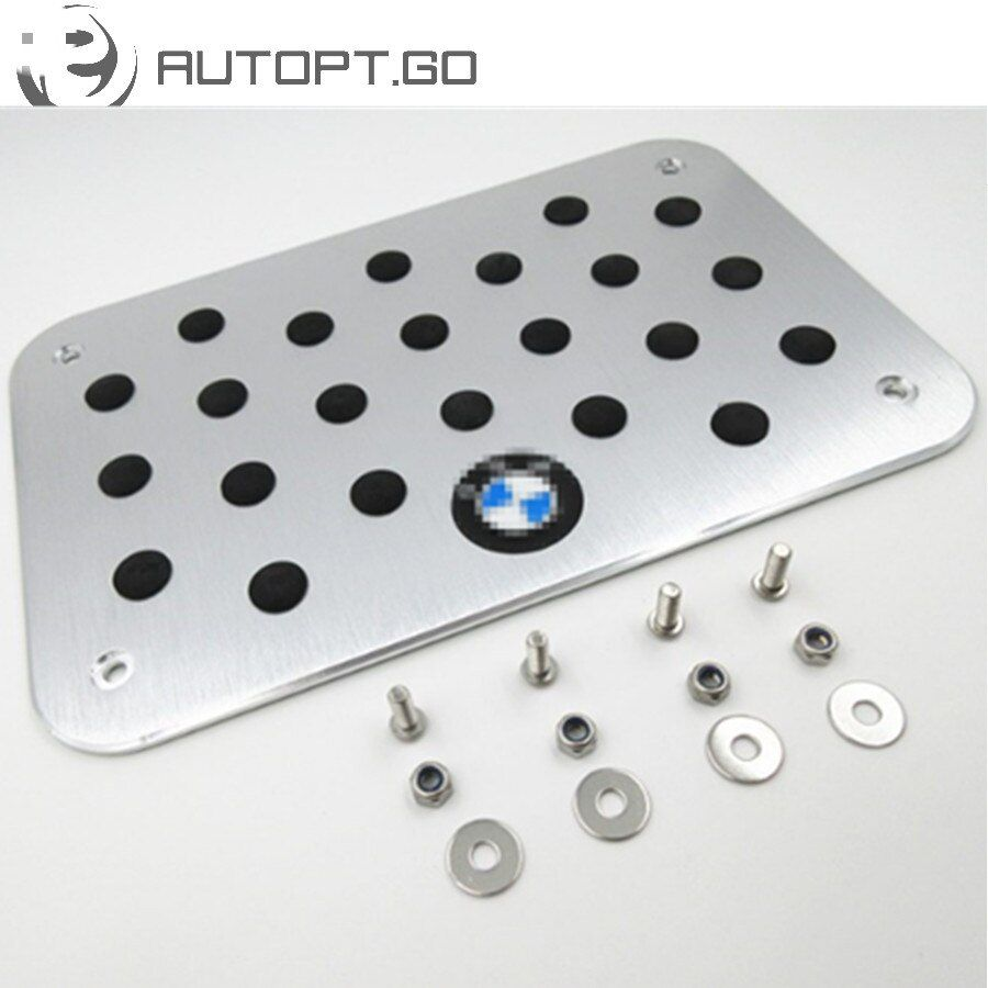 Universal Aluminium Antiskid Foot Floor Carpet Mats Pads Pedal With Bolts Set For All BMW IIIM 3 5 7 X M Series Foot Pedal Plate