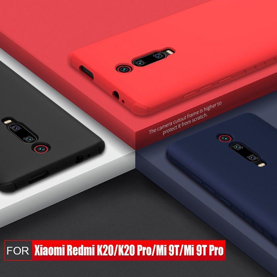 NILLKIN pour xiaomi redmi k20 pro housse de protection en Silicone lisse couverture arrière pour xiaomi mi 9t mi 9t pro redmi k20 étui 6.39