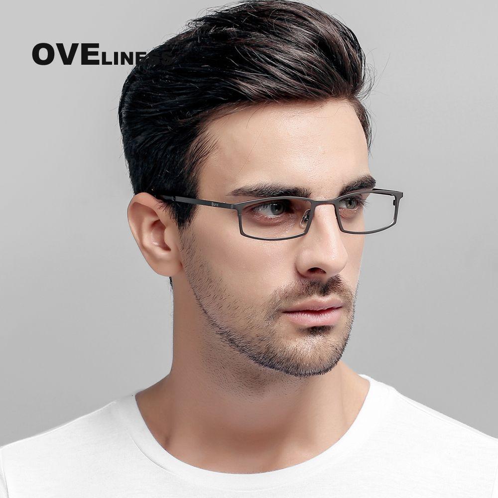 Entreprise lunettes en titane cadres hommes jante pleine optique lunettes myopie Prescription spectacle Haute Qualité Lunettes Cadres