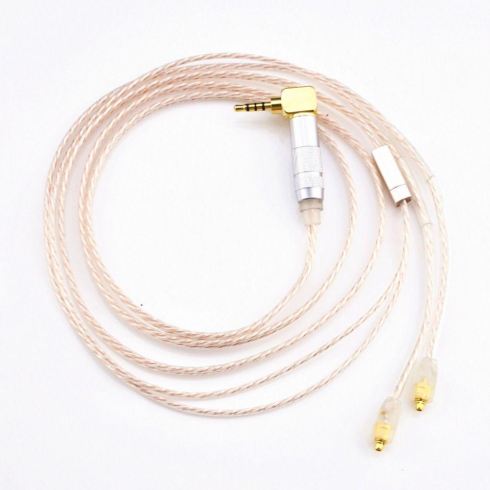 Wooeasy 2.5 мм сбалансированный MMCX Джек ручной серебро Медь смешанные наушники Обновление кабель для SE846 dqsm LZ A3 LZ A4 Shockwave