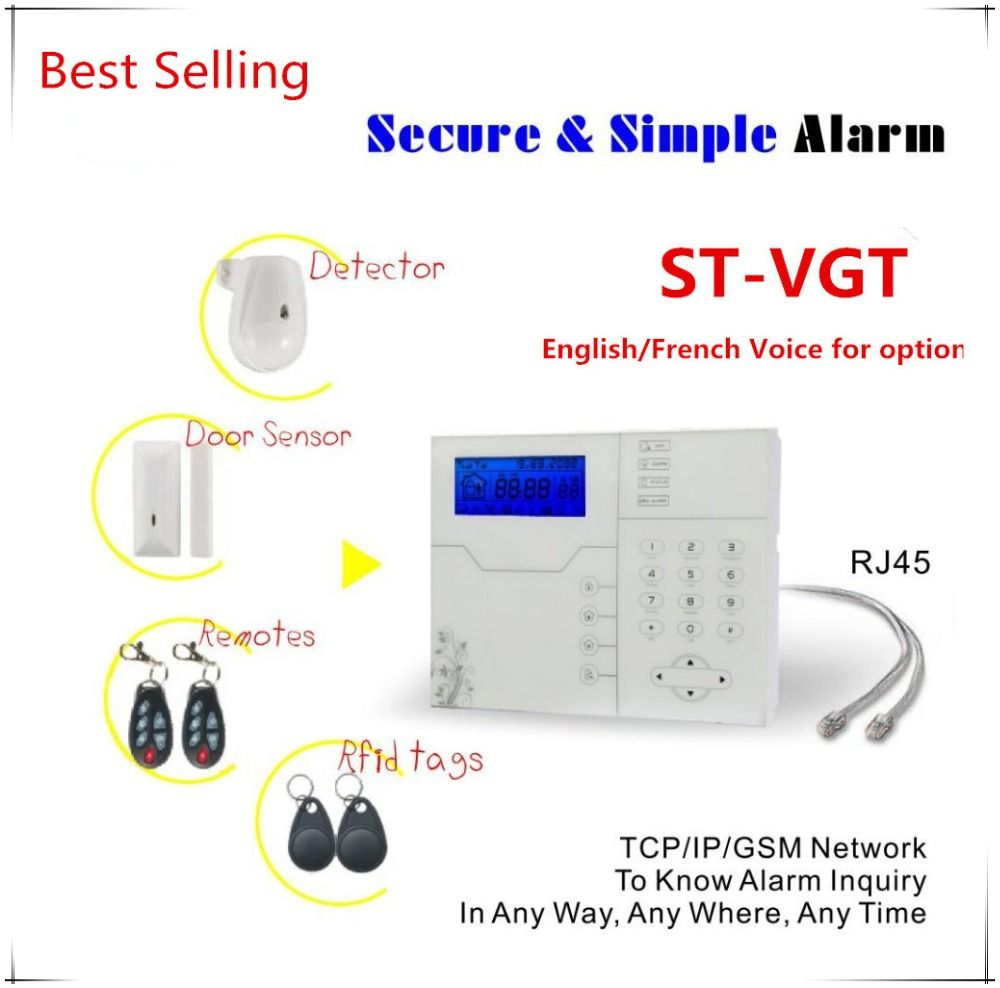 Best Selling Internet TCP IP GSM Alarm System with 8 wired zone and 32 Wireless Zone Burglar Alarm System