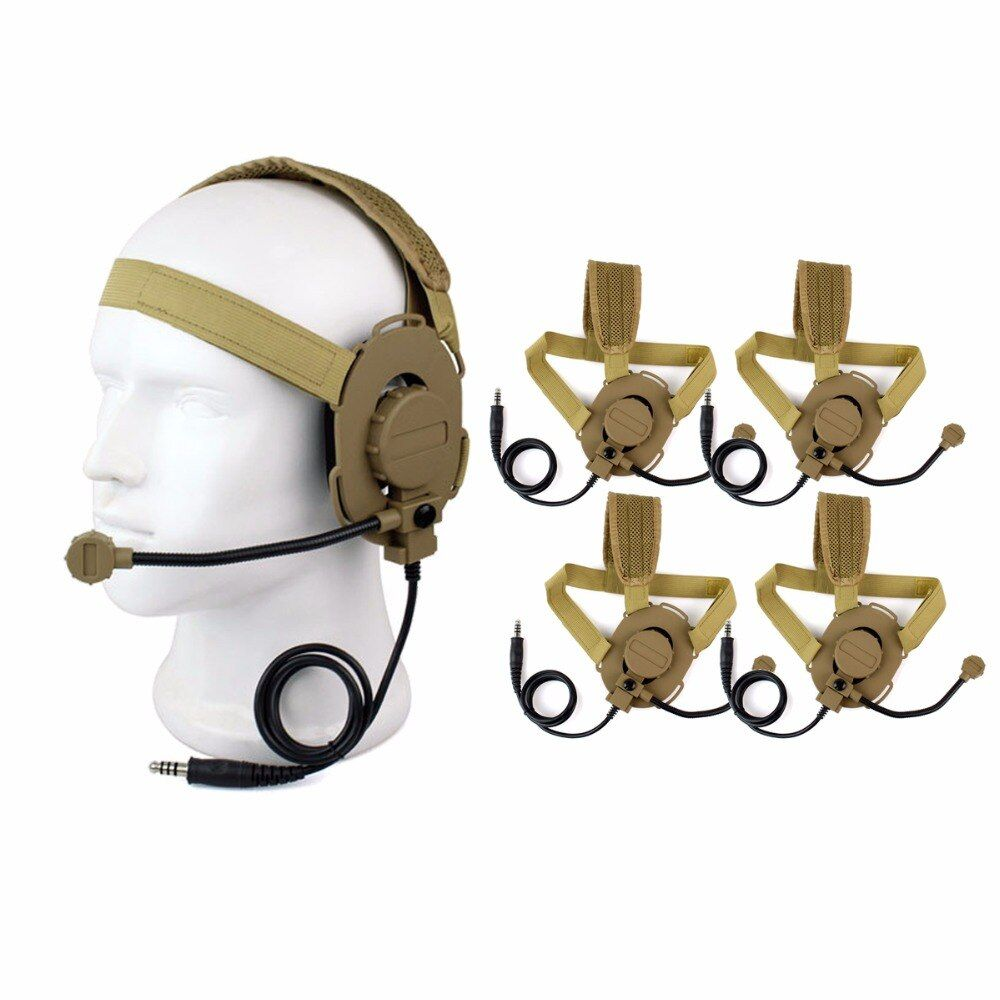 5 pcs Z Tactical Bowman Elite II Headset For Walkie Talkie HD-03 Yellow Color For Portable Ham Two Way Radio Accessories C2129Y