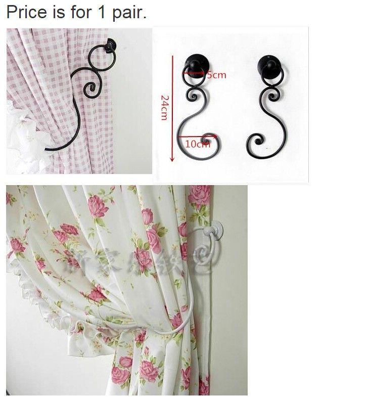 2015 New hot livraison gratuite style européen mur - rideau crochet rideau Valance moustiquaire accessoires en fer forgé