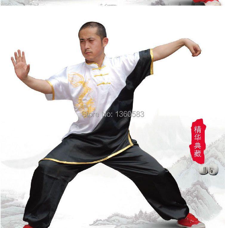 Neue chinesische Wushu einheitliche kungfu Kleidung Kampfkunst Anzug taolu Kleidung für Frauen Kinder Mädchen Jungen Männer Kinder Stickerei Drachen
