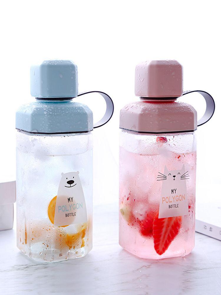 Upstyle 2018 New Children's Water Bottle Plastic Portable Girl Pupils Lovely Korean Version of Anti-fall Water Bottle