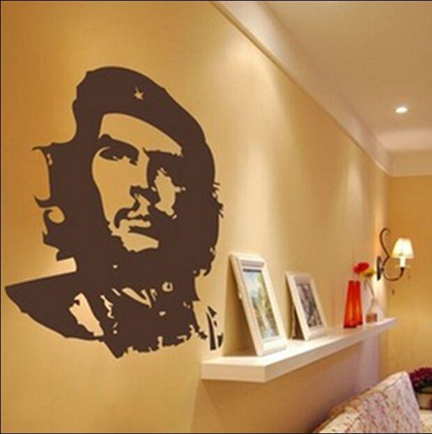 Amovible Che Guevara Conception de décalque de vinyle, décoration murale, Chambre Mur Art Autocollant