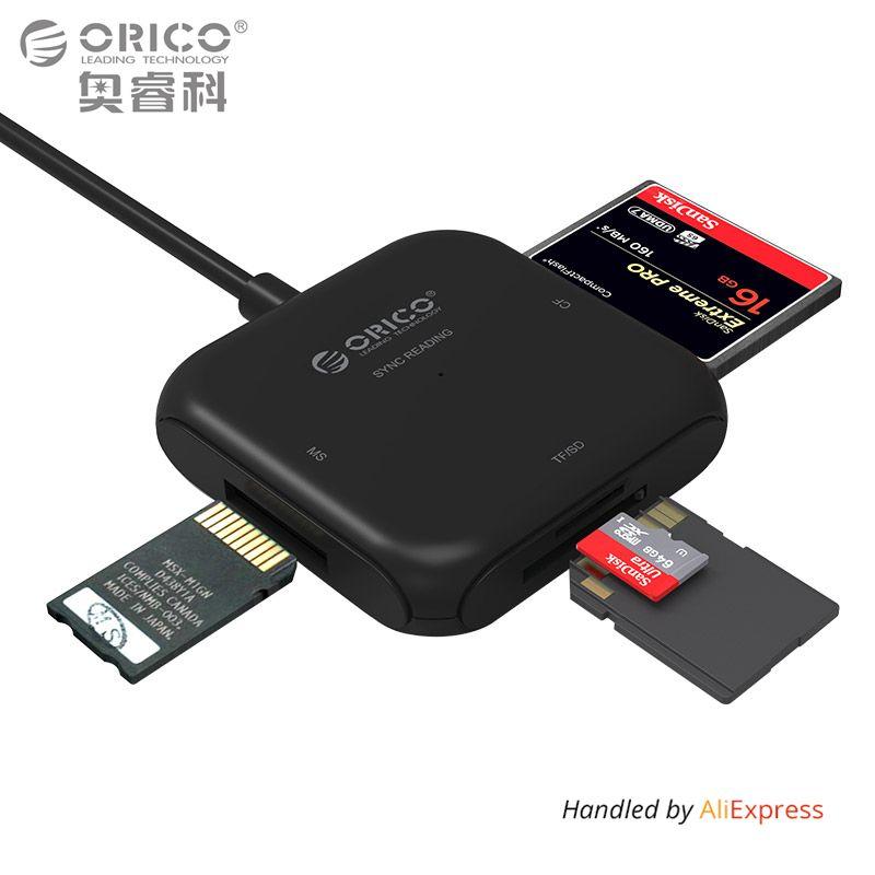 ORICO 4 в 1 USB 3.0 смарт-карт флэш-Multi чтения карт памяти для TF/SD/MS /cf 4 карты читать и писать одновременно