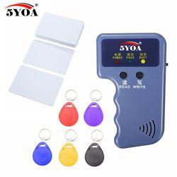 Handheld 125 KHz RFID Duplikator Copier Writer Programmer Reader + Tombol + Kartu EM4305 T5577 Dapat Ditulis Ulang ID Keyfobs Kategori Kartu