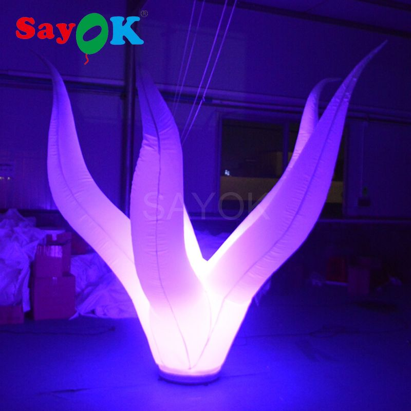 Customized inflatable seaweed led decoration prism inflatable light tower with led light sale for party club decoration