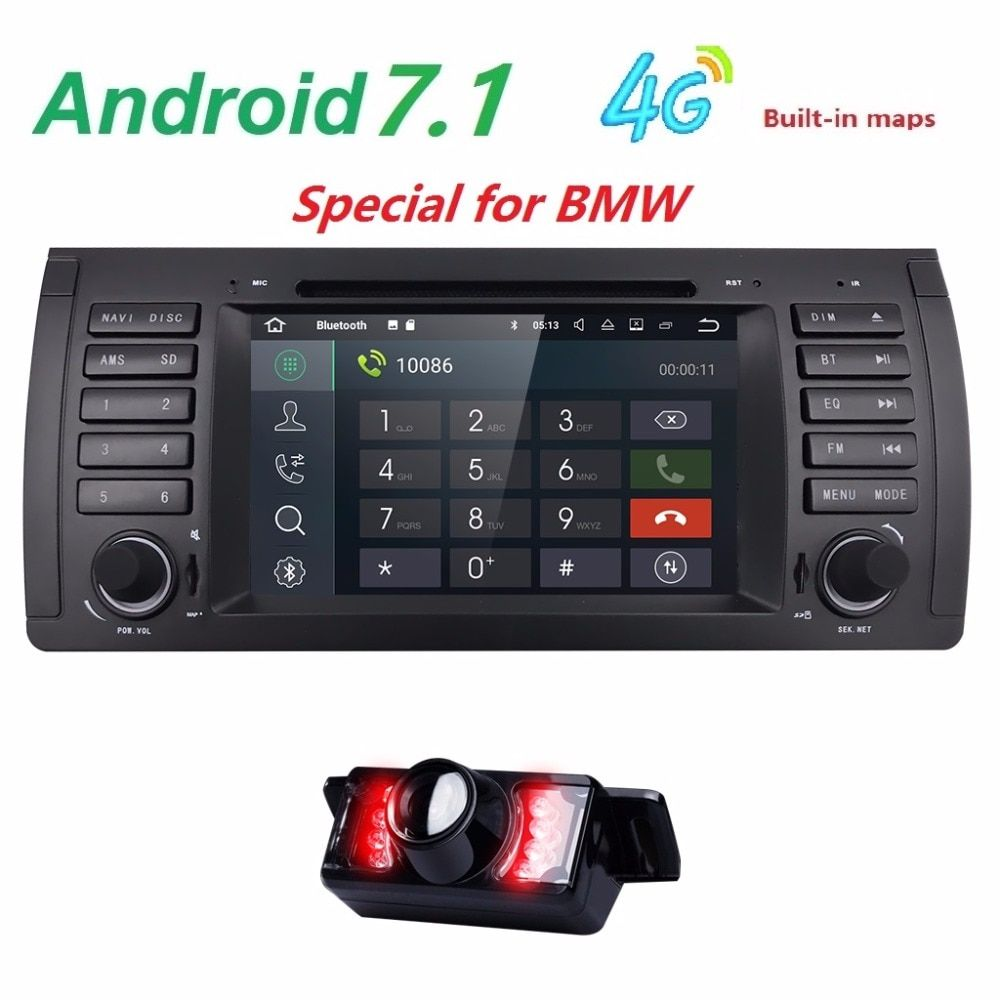2din car radio dvd gps android 7.1 1024*600 Quad core For BMW E39 E53 M5(1996-2007) with Bluetooth Phonelink BT 1080P Ipod Maps
