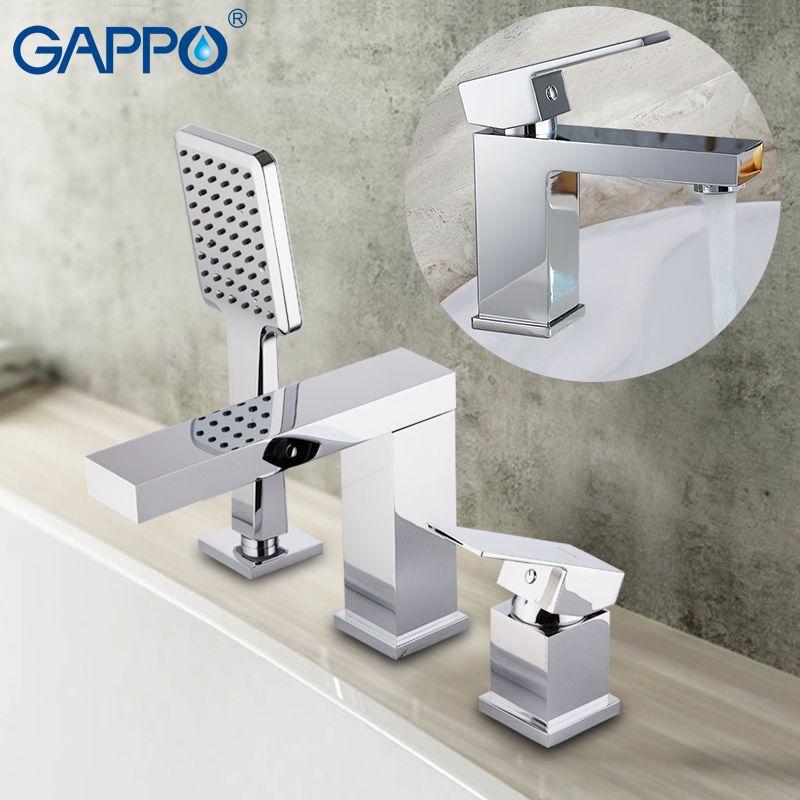 GAPPO bathtub Faucets brass waterfall faucet mixer deck Basin faucet basin mixer tap bathroom brass water sink mixer deck