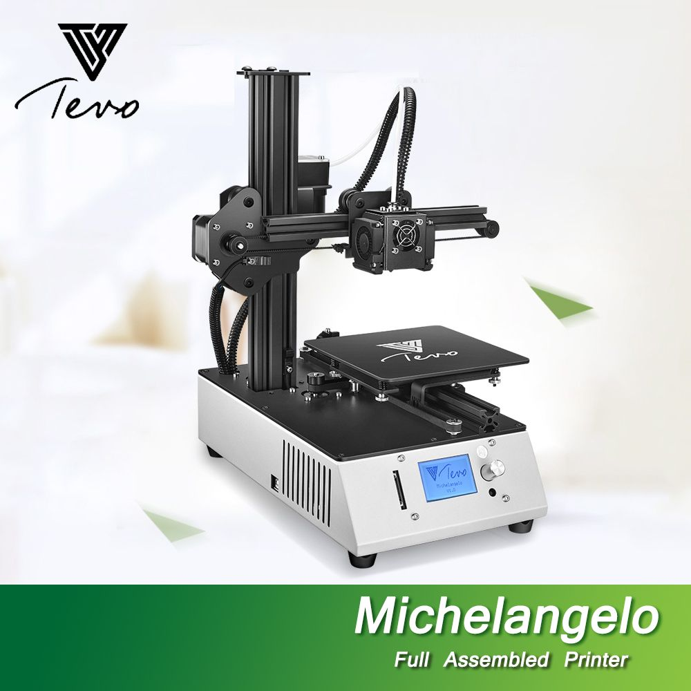 2018 NEW TEVO Michelangelo Impresora 3D Printer Fully Assembled 3D Printer Kit Full Aluminum Frame Titan Extruder Imprimante 3D