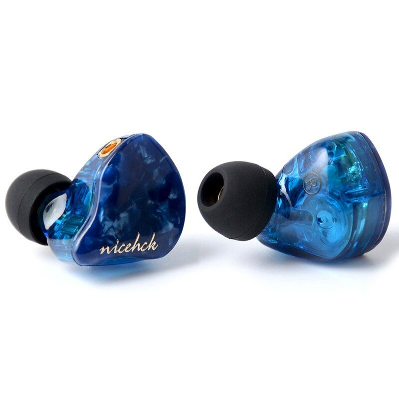 NICEHCK P3 In Ear Earphone 2BA+1DD Hybrid 3 Unit HIFI Earbud Headset Monitor IEM 3 Crossover CNC Faceplate MMCX Detachable Cable