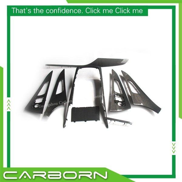 Für Audi A6 2012 2013 2014 2015 2016 2017 Ersatz Stil Carbon Fiber Innen Abdeckung Trim 8 stücke Set Links hand Stick Nur