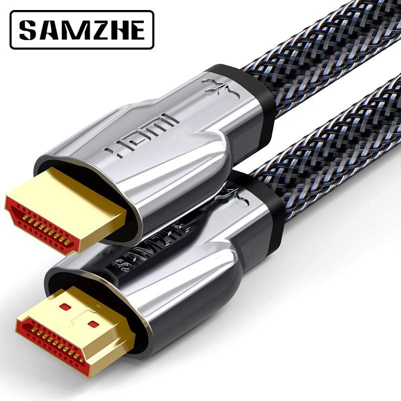 SAMZHE К 4 к HDMI 2,0 кабель HDMI к HDMI кабель HDMI Ethernet кабель для PS3 проектор HD ЖК-дисплей Apple tv компьютер ноутбук