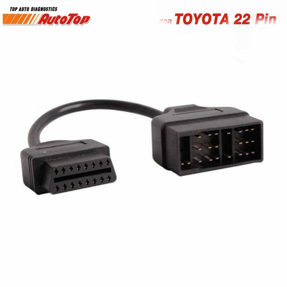 Топ OBD2 Кабель-адаптер для Toyota 22 Булавки до 16 Булавки БД адаптер к OBDII разъем для Toyota 22 Булавки odb2 кабель для Toyota Corolla